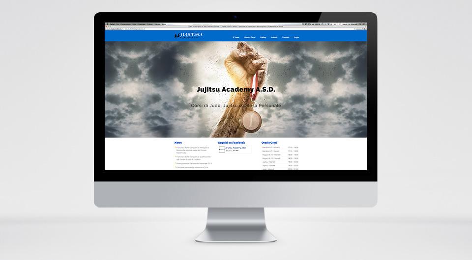Jujitsu Academy Web L'Aquila Logo Grafica e Sito Web https://www.jujitsuacademy.it/