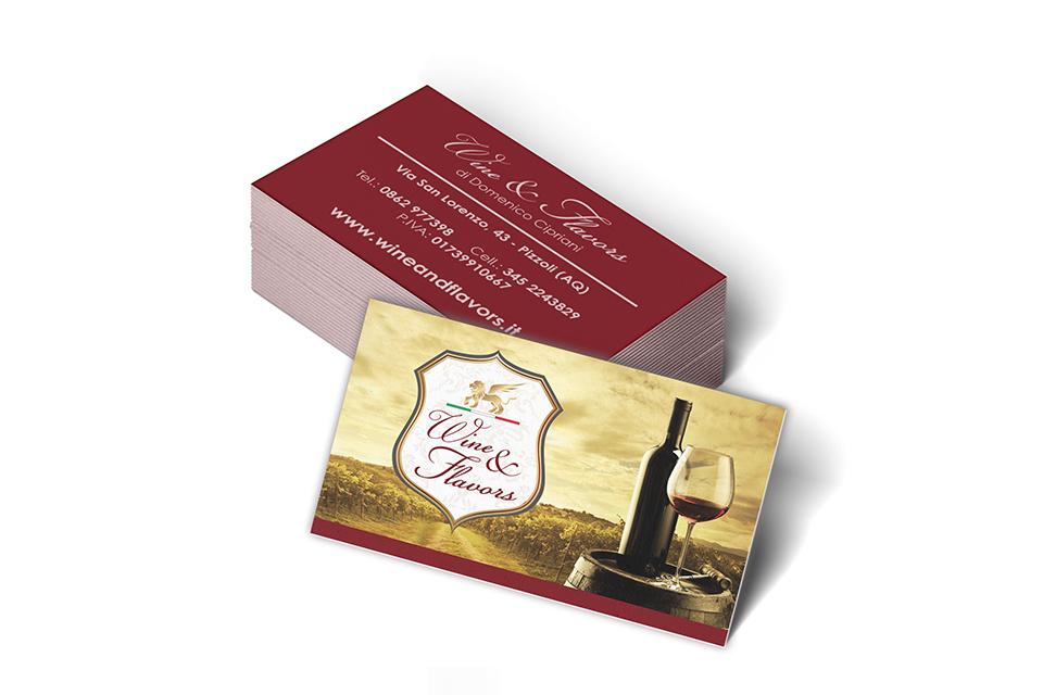 Wine & Flavors - Biglietti da Visita